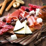 cold cuts and cheese platter