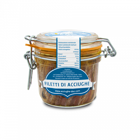 Anchovy fillets from Sciacca artisanal