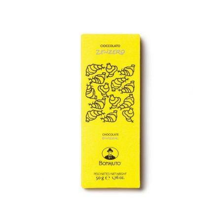 Ginger chocolate bar from Modica artisanal