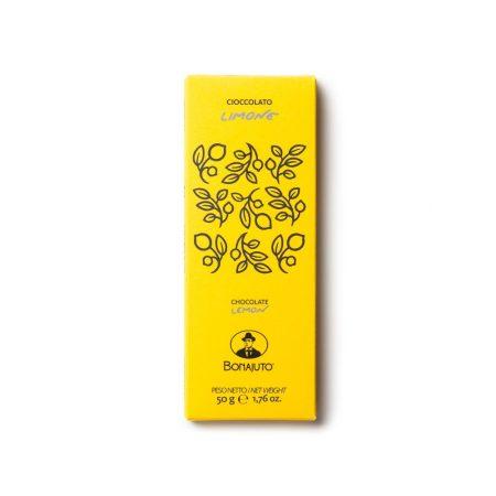 lemon chocolate bar from Modica artisanal