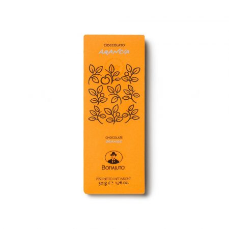 orange chocolate bar from Modica artisanal